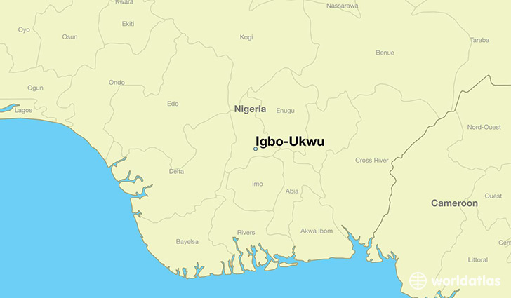 map showing the location of Igbo-Ukwu