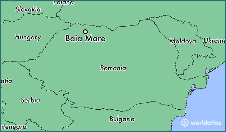 map showing the location of Baia Mare