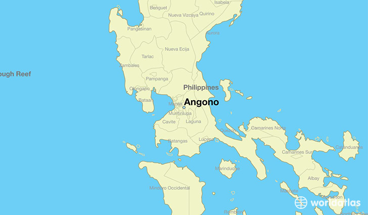 map showing the location of Angono