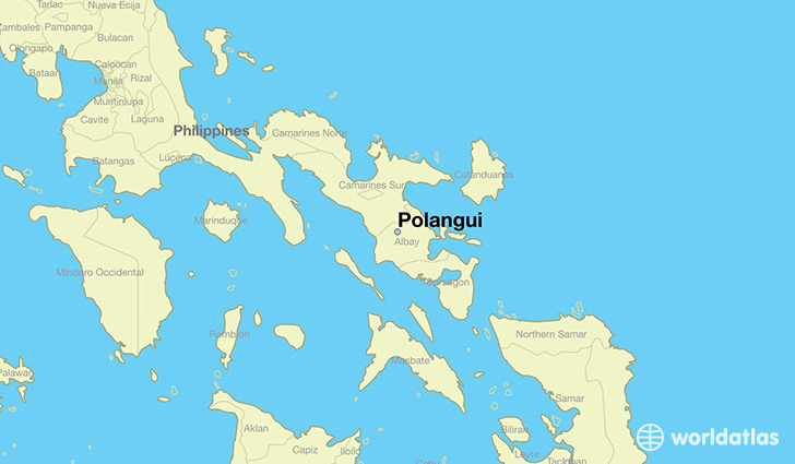 map showing the location of Polangui