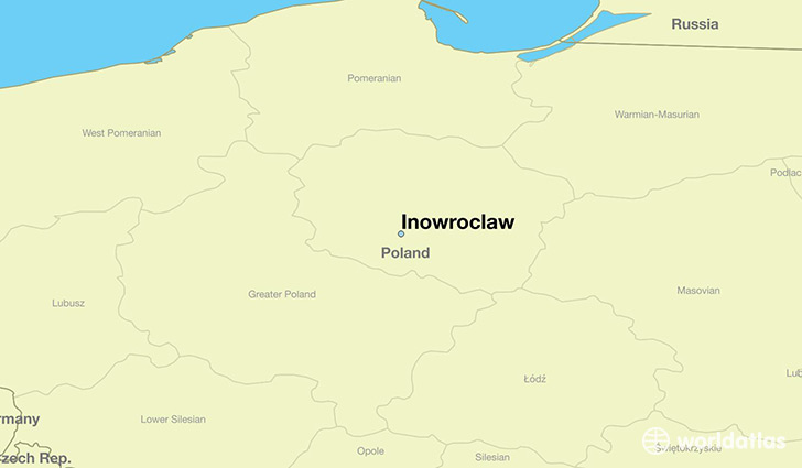 map showing the location of Inowroclaw
