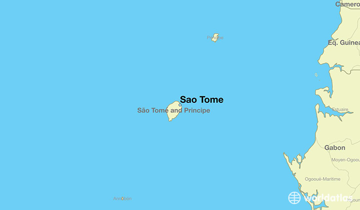 map showing the location of Sao Tome