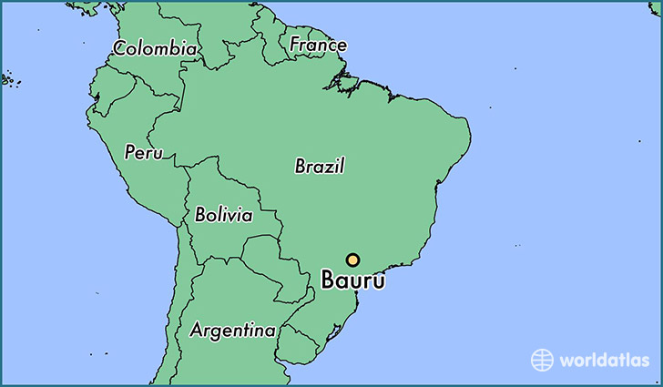 map showing the location of Bauru