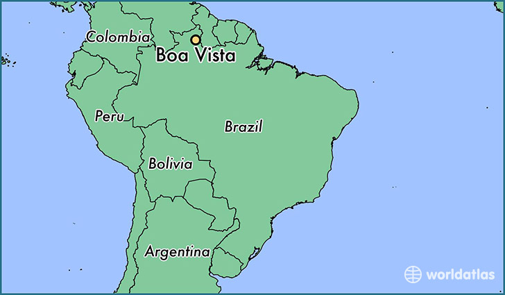 map showing the location of Boa Vista