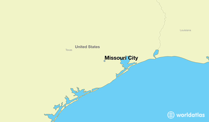 map showing the location of Missouri City