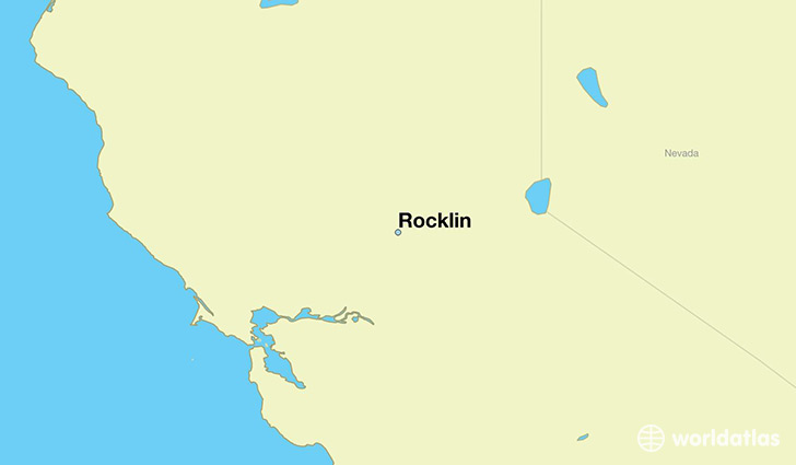 map showing the location of Rocklin