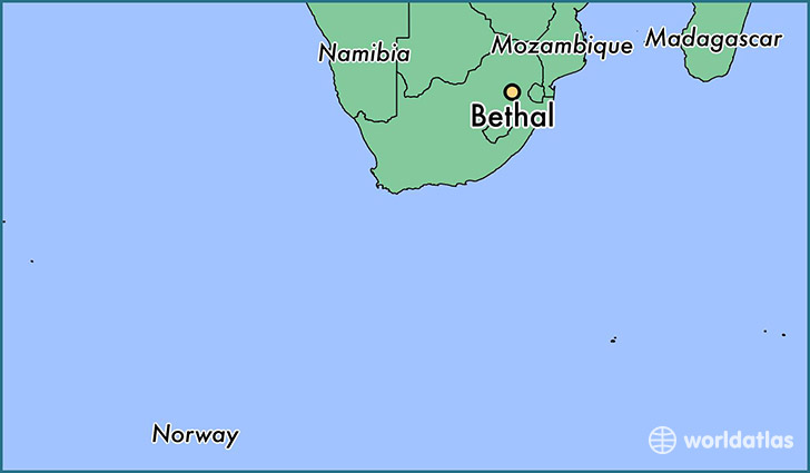 map showing the location of Bethal