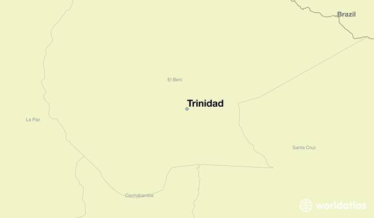 map showing the location of Trinidad