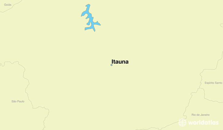 map showing the location of Itauna