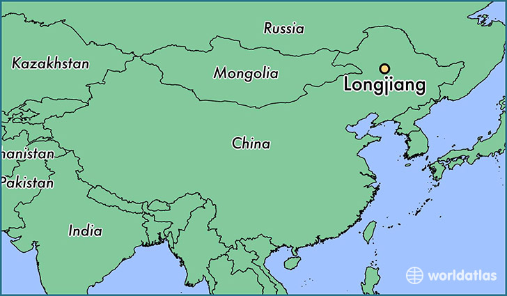 map showing the location of Longjiang