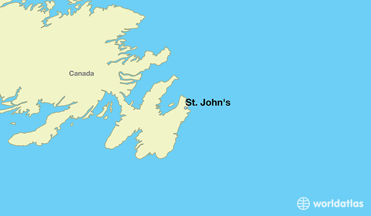 Where Is St John S Nl St John S Newfoundland And Labrador Map