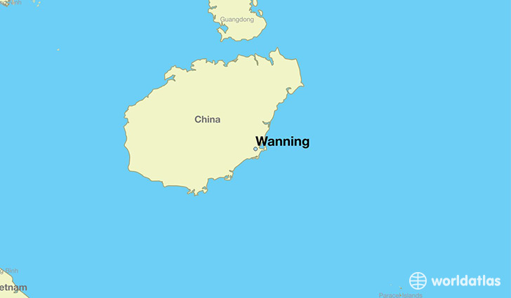 map showing the location of Wanning