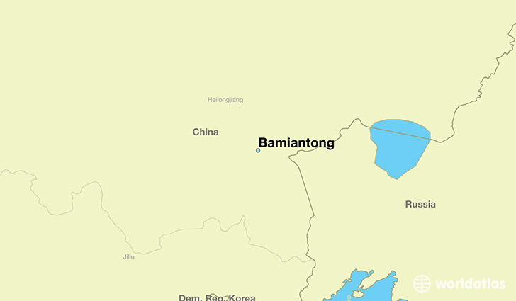 map showing the location of Bamiantong