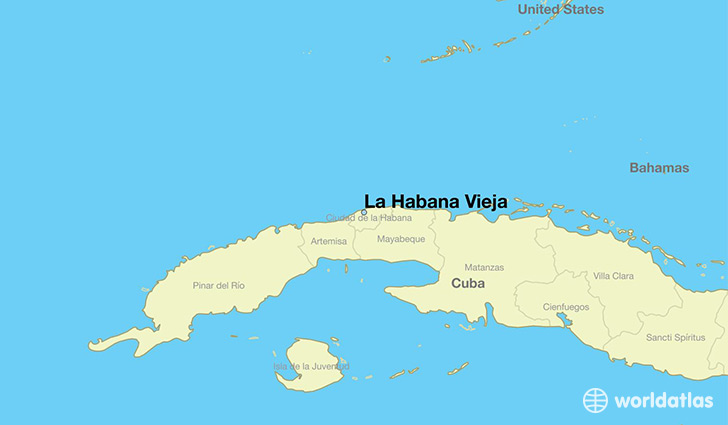 Where is La Habana Vieja Cuba La Habana Vieja La Habana Map