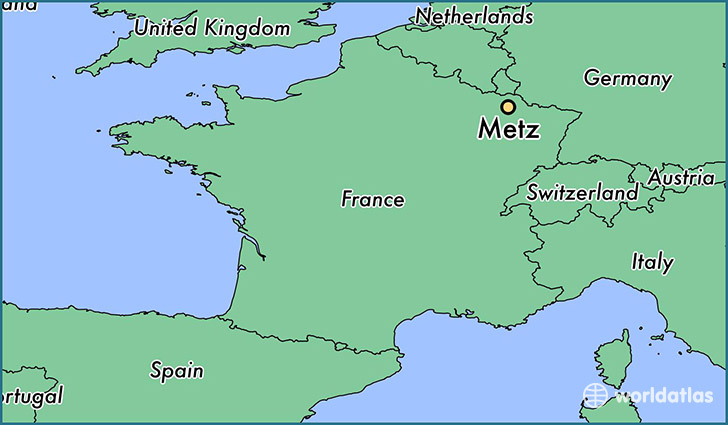 map showing the location of Metz