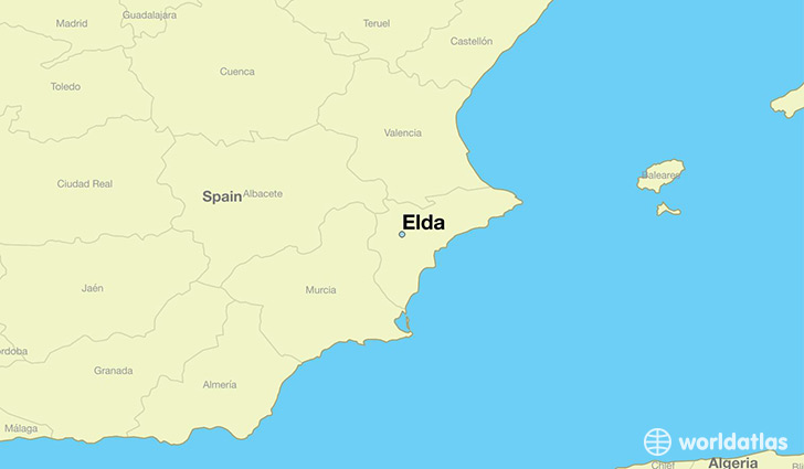 map showing the location of Elda