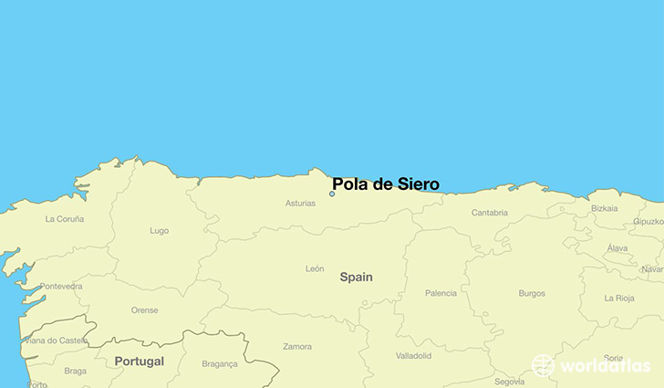 map showing the location of Pola de Siero