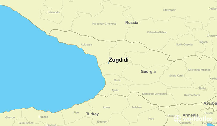 map showing the location of Zugdidi