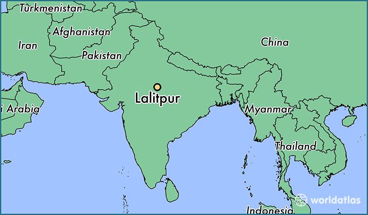 map showing the location of Lalitpur
