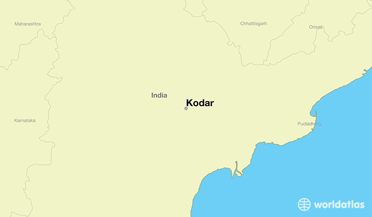map showing the location of Kodar