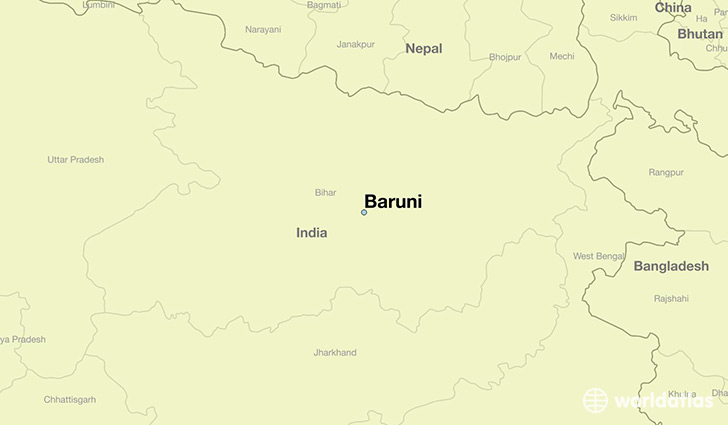 map showing the location of Baruni