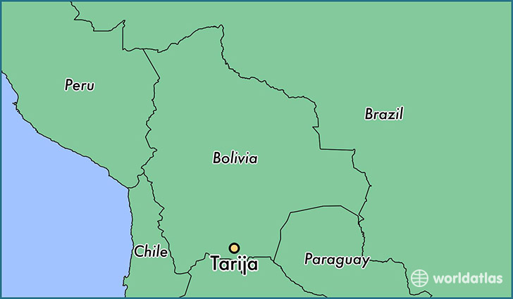 map showing the location of Tarija