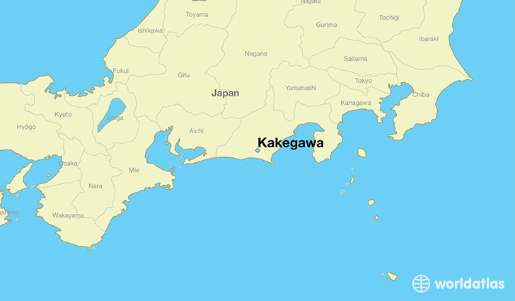 map showing the location of Kakegawa