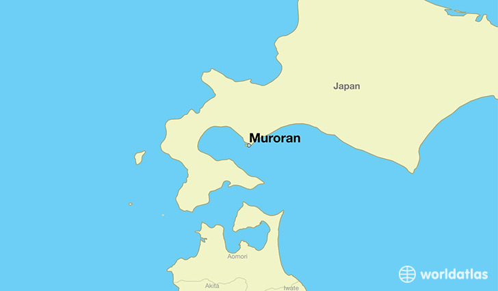 map showing the location of Muroran