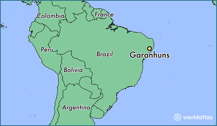map showing the location of Garanhuns