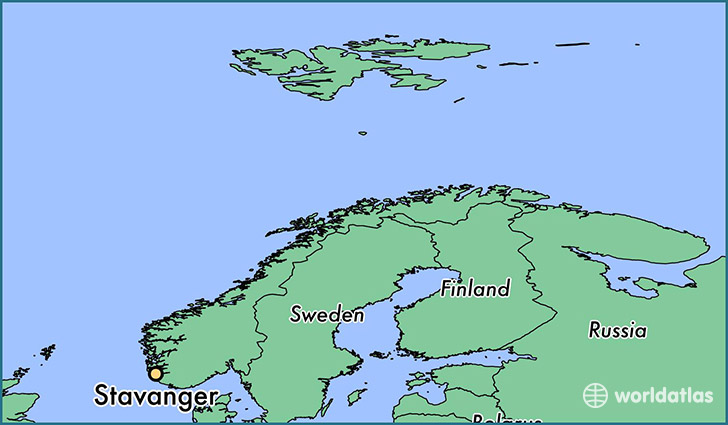 map showing the location of Stavanger