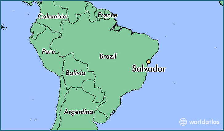 map showing the location of Salvador