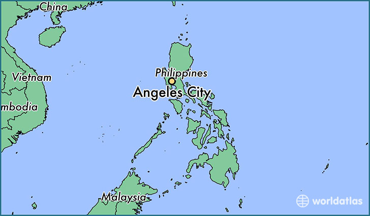 map showing the location of Angeles City