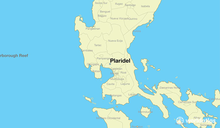 map showing the location of Plaridel