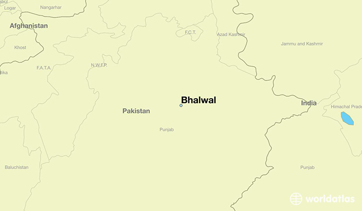 map showing the location of Bhalwal