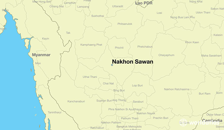 map showing the location of Nakhon Sawan