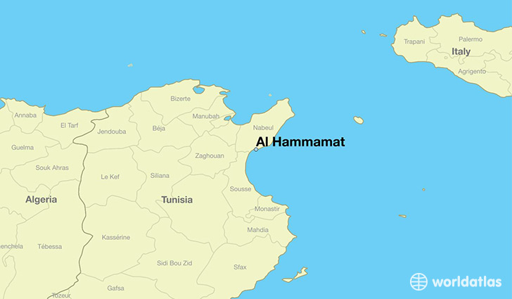 map showing the location of Al Hammamat