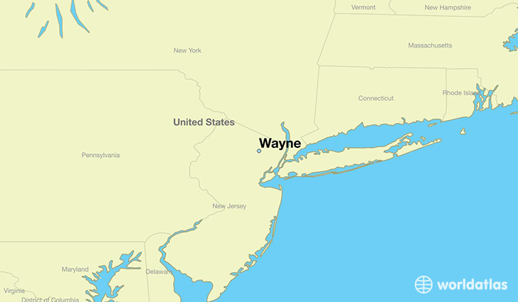map showing the location of Wayne