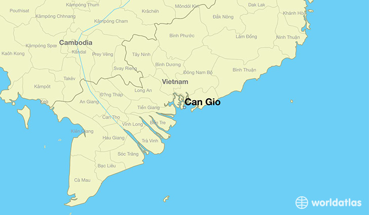 map showing the location of Can Gio