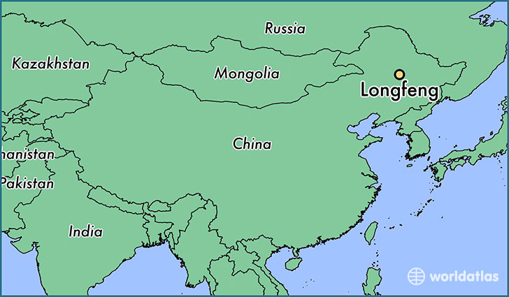 map showing the location of Longfeng