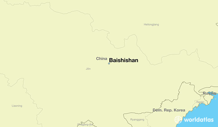 map showing the location of Baishishan