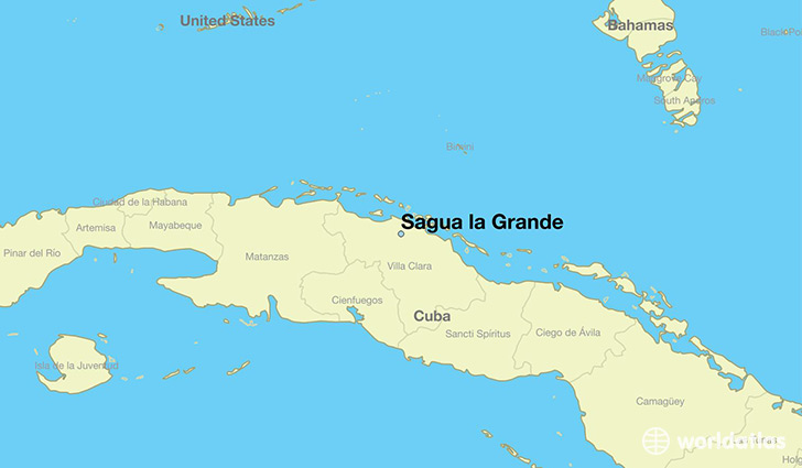 map showing the location of Sagua la Grande