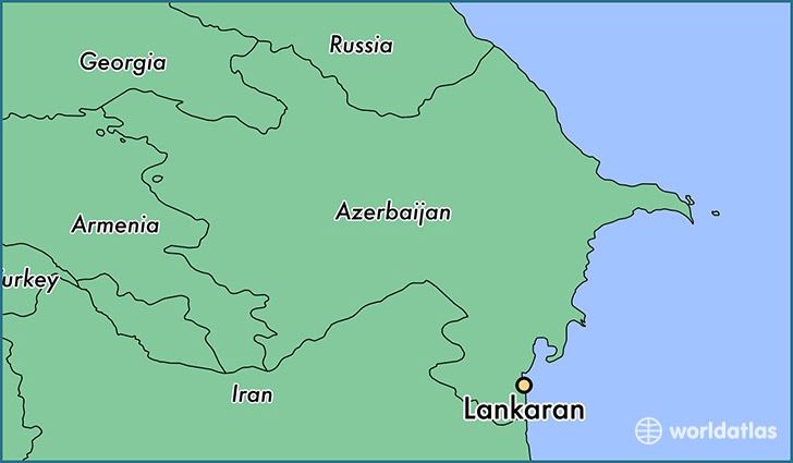 map showing the location of Lankaran