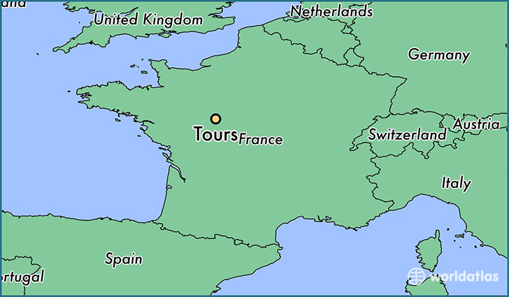... is Tours, France Located in The World? / Tours Map - WorldAtlas.com