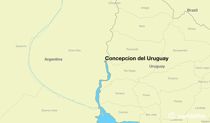 map showing the location of Concepcion del Uruguay
