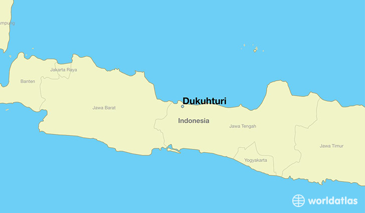 map showing the location of Dukuhturi
