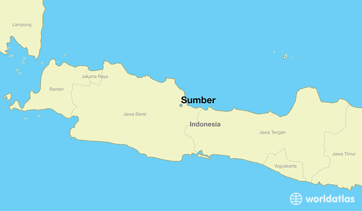 map showing the location of Sumber
