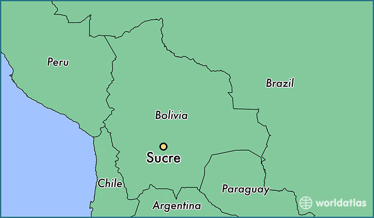 Where is Sucre Bolivia Sucre Chuquisaca Map WorldAtlascom