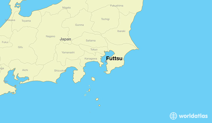 map showing the location of Futtsu
