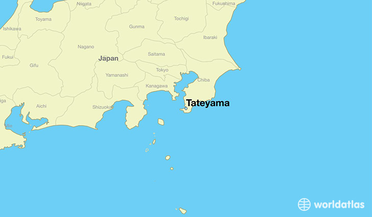 map showing the location of Tateyama