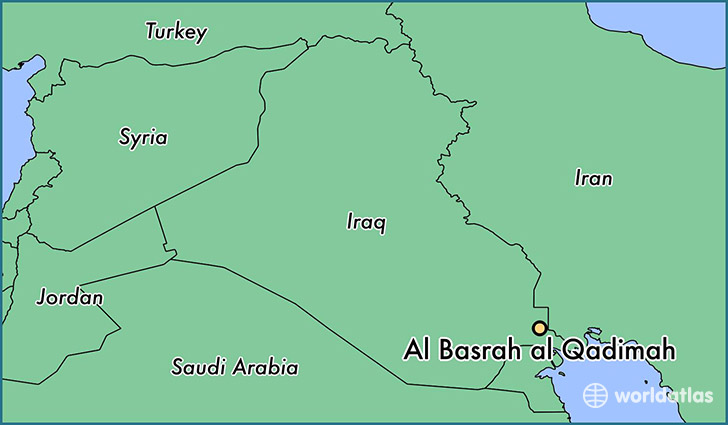 map showing the location of Al Basrah al Qadimah